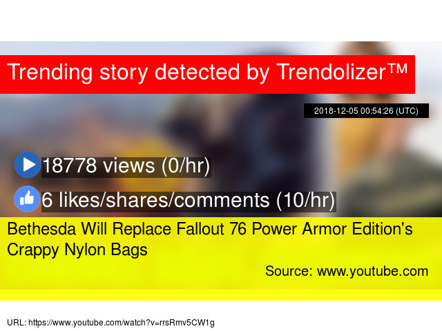5fc3669bbaec Bethesda Will Replace Fallout 76 Power Armor Edition s Crappy Nylon Bags