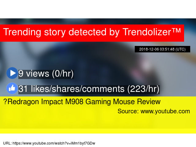 ✅ Redragon Impact M908 Gaming Mouse Review