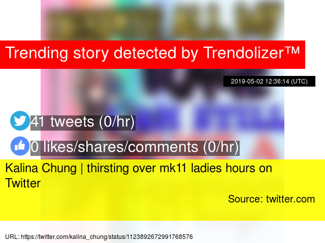 Kalina Chung | thirsting over mk11 ladies hours on Twitter
