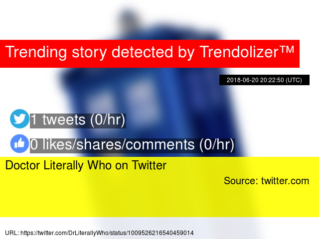 Doctor Literally Who On Twitter