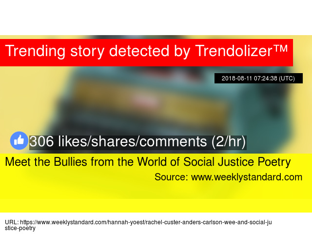 Meet The Bullies From The World Of Social Justice Poetry